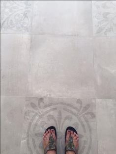 My new floor-Porcelanosa Tribeca Caliza