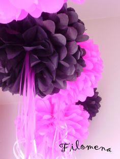 decorar con pompones de papel de seda - Buscar con Google