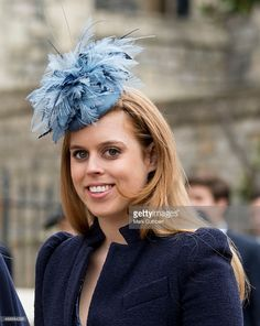 Princess Beatrice attends the Easter Service at St George's Chapel at Windsor Castle on April 5, 2015 in Windsor, England.  (Photo by Mark Cuthbert/UK Press via Getty Images)