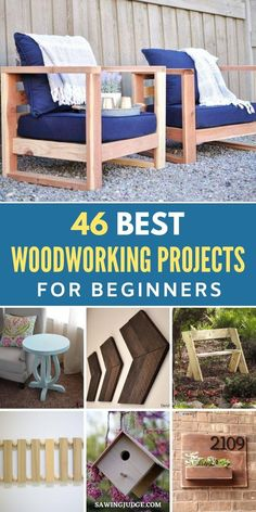 Do you want to build something completely new from scratch, but you have little to no woodworking skills? If so, there are numerous woodworking projects that you can take on. And the best thing is you don't even have to be a woodworking pro to complete them! These 46 woodworking projects for beginners are amazing if you're just starting out. #woodworking #woodworkingprojects #woodworkingideas #easywoodworkingprojects #diywoodworking Woodworking Projects For Kids, Easy Wood Projects, Woodworking Skills, Diy Woodworking, Garden Projects, Furniture Making, Diy Furniture, Wooden Candle Holders, Build Something