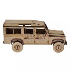 Land Rover Defender 110. Quebra Cabeça 3d. Miniatura Em Mdf - R$ 60,00
