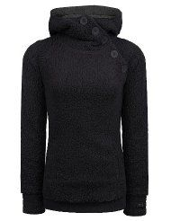 Eight2Nine Women Teddy Fleece Pullover mit Knopfleiste, schwarz Fleece Pullover, Damen Sweatshirts, Turtle Neck, Money, Woman, My Style, Womens Fashion, Clothing, Sweaters