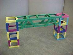 Brug Stem Projects For Kids, Paper Crafts For Kids, Art Projects, Diy And Crafts, Arts And Crafts, 2nd Grade Art, Grade 2, Paper Architecture, Stem Science