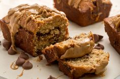 Chocolate-Peanut Butter Banana Bread