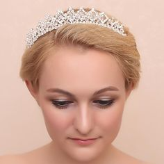 Women/Flower Girl Crystal/Alloy/Cubic Zirconia Tiaras With Wedding/Party Headpiece – GBP £ 27.00