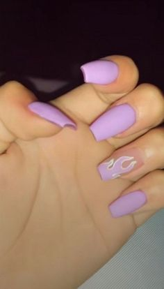 Purple Acrylic Nails, Best Acrylic Nails, Purple Nails, Summer Acrylic Nails Designs, Pastel Nail, Purple Nail Designs, Orange Nails, Acrylic Nails With Design, Acrylic Nails Coffin Short