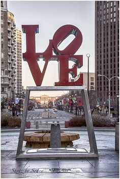 Love Statue - Philadelphia, PA. Used to eat lunch here while in nursing school.