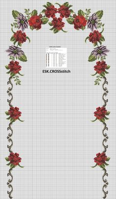 This Pin was discovered by esk Counted Cross Stitch Patterns, Cross Stitch Designs, Cross Stitch Embroidery, Cross Stitch Rose, Cross Stitch Flowers, Prayer Rug, Yarn Shop, Embroidery Designs, Diy And Crafts
