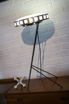 Kempthorne Lighting 1950s Australia L& shade with custom hairpin stand MID Century Modern Floor Table & Rare Torstein Nielsen Møremøbler A/S (Westnofa) - Ørsta Norway ...