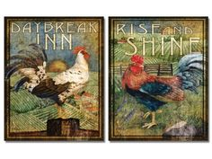 2 Retro Rooster Rustic Art Prints Country Kitchen Decor 8 x 10 wallsthatspeak,http://www.amazon.com/dp/B00CJI8KS0/ref=cm_sw_r_pi_dp_vVICtb1CWYTAEBGK