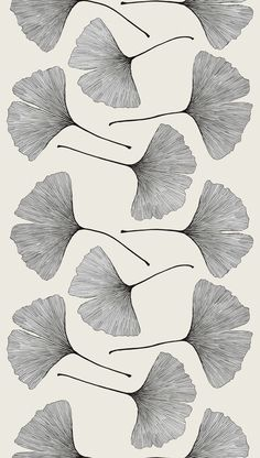 Gingko Sateen fabric designed by Kristina Isola for Marimekko