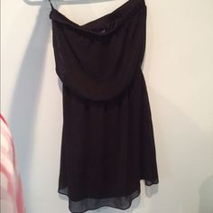Strapless black dress Strapless black dress from express. Only worn once. Very good quality Express Dresses Strapless