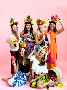 Cute idea for a group costume! Tropicana Girls!