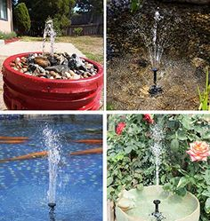 Solar Fountain Water Pump Panel Garden Pond Pool Submersible Watering Kit CHH