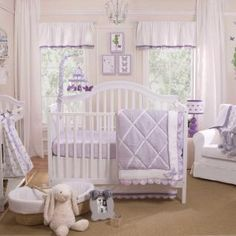 The elegant appeal and understated beauty of the Papillon collection will create a stunning nursery for a little girl. An array of luxurious fabrics in soft lavender and crisp white with beautiful embellishments make this collection even more special.