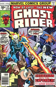 Cover for Ghost Rider (Marvel, 1973 series) #24 [30 cent cover price] June 1977