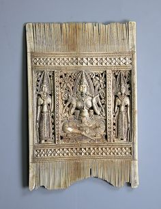 Comb with the Goddess Lakshmi and Attendants  Ivory  18th Century  Metropolitan Museum of Art, New York, NY