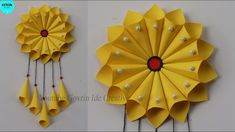 Hanging Paper Decorations, Paper Wall Hanging, Paper Wall Decor, Wall Hanging Crafts, Paper Sunflowers, Paper Flowers Craft, Easy Paper Crafts, Diy Origami, Butterfly Crafts