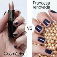 ¿Geométrica o Francesa renovada? #nailart