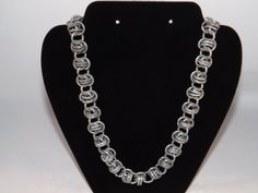 Mens Chainmail Necklace Chainmaille Necklace by NWCreativeCouple