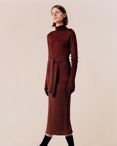 John Smedley Well Dressed, Nice Dresses, Knitwear, Horse, High Neck Dress, Knitting, Collection, Fashion, Turtleneck Dress