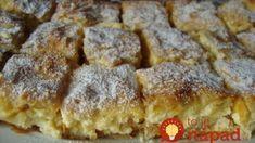 Kráľovský jablkový koláč s tvarohovým krémom: Nedá sa porovnať s ničím, čo sme piekli doteraz, neprekonateľný! Apple Pie, Sweet Recipes, French Toast, Good Food, Food And Drink, Sweets, Baking, Breakfast, Glass