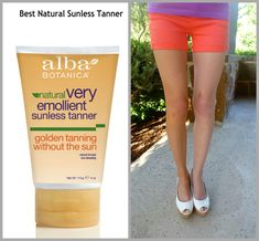 This is the best natural sunless tanner! Check out the before and after photo: it's noticeable & natural!