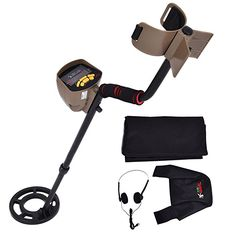 "Goplus Metal Detector Waterproof Coil Underground 8.3"" Deep Sensitivity Gold Search 5 Modes w/ Headphone & Backpack MD-6300"