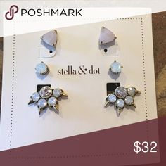 🎄 FLASH SALE! Stella & Dot Eva Ear Jacket BN Never worn Jewelry Earrings