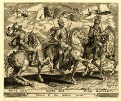 D'après Heemskerck, Joshua, David and Judas Maccabeus