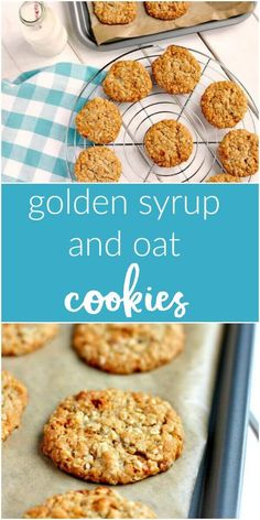 Golden Syrup and Oat Cookies An easy egg free Golden Syrup and Oat Cookie recipe Oat Biscuit Recipe, Cookie Recipe Uk, Easy Cookie Recipes, Sweet Recipes, Sugar Biscuits Recipe, Biscuit Recipes Uk, Baking Recipes Uk, Sugar Free Biscuits, Uk Recipes
