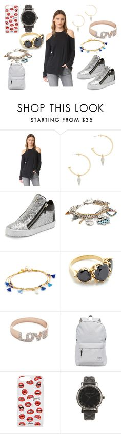 """""""Black Attire"""" by hillarymaguire ❤ liked on Polyvore featuring Zoe Karssen, Rebecca Minkoff, Giuseppe Zanotti, Marc Jacobs, Shashi, Jacquie Aiche, Kismet by Milka, Herschel Supply Co., Sonix and Michael Kors"""