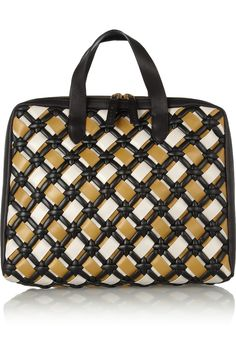 Woven leather tote by Marni