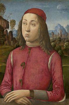 Agnolo di Domenico del Mazziere or Donnino di Domenico del Mazziere (1466 – 1513) — Portrait of a Youth, c. 1495-1500 :The National Gallery, London.