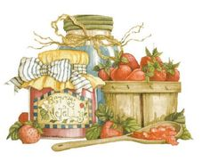What could be more summer-like than strawberries!  Painting by Diane Knott for Legacy Publishing Group