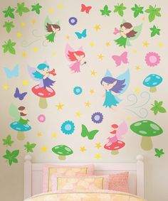 Take a look at this Fairies Wall Decal Set by Vincent & Theo on #zulily today!34