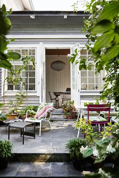 Swedish Wooden House Surrounded By Roses Outdoor Rooms, Outdoor Gardens, Outdoor Living, Outdoor Decor, Shed Design, Garden Design, Shed Builders, Shed To Tiny House, Shed Building Plans