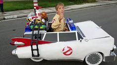 """If they had an awards show for awesome parents, we know who we'd cast our vote for this year in the costumes category: this dad that converted his son's wheelchair into the Ecto-1 from Ghostbusters for Halloween. We first came across this incredible costume at Laughing Squid, and it is the work of super dad Ryan Scott Miller, who turned his son Jeremy's wheelchair into the iconic movie car, replete with """"working headlights, siren lights, tail lights, and speakers"""" that play both the…"""