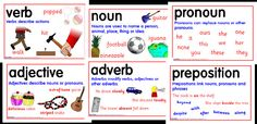 Free parts of speech posters