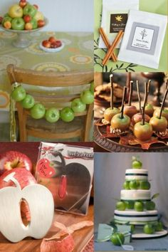 So many ways to use apples in you event decor!