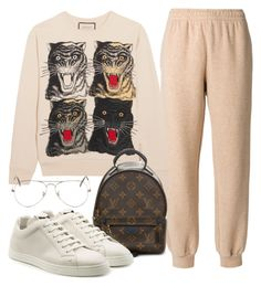 A fashion look from September 2017 by featuring Gucci, See by Chloé, Louis Vuitton, Ray-Ban and Fendi Kpop Fashion Outfits, Tomboy Fashion, Edgy Outfits, Korean Outfits, Mode Outfits, Cute Casual Outfits, Mode Chanel, Bts Inspired Outfits, Looks Black