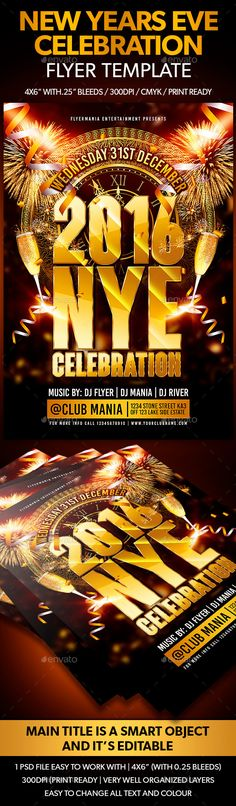 New Years Eve Flyer Flyers, New years eve and New Yearu0027s - free new years eve flyer template