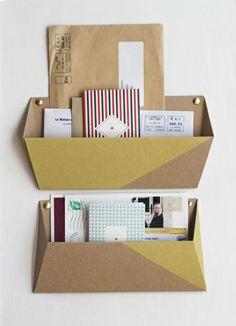 DIY Cardboard Wall Pockets