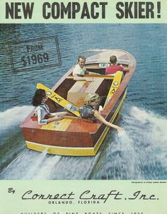 gorgeous 1961 wooden Correct Craft #vintage boats