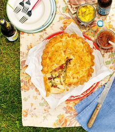 Traditional British flavours of spring onion, parsley and mustard are encased in a crunchy pastry case in this classic summer recipe.
