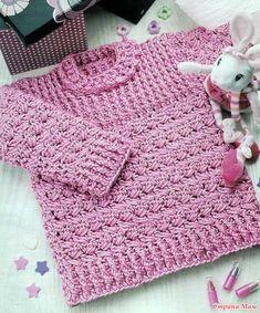 Детский свитер крючком