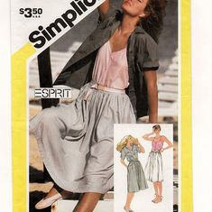 Simplicity 6037, A Full Gathered Skirt, Front Button Camisole, and Yoked Short Sleeve Shirt Pattern by So Sew Some!