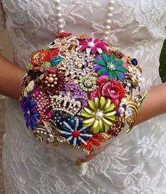 Vintage Antique Style Pins Brooches Multi Color Bridal Wedding Bouquet   eBay