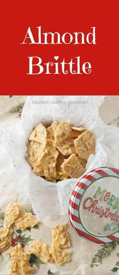 The nutty flavor of this almond brittle is so addictive!  Don't be intimidated by making this homemade candy.  It is as easy to make as it is irresistable! via @https://www.pinterest.com/mindeescooking/