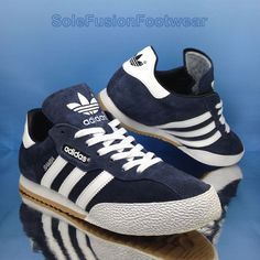 timeless design 9f911 7a200 adidas Samba Super Suede Shoes Retro Sneaker Navy White 019332 Handball  Smith UK 7 for sale online   eBay. Suede TrainersAdidas Originals ...